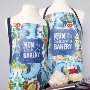 'Harriet' Personalised Oilcloth Apron - kitchen