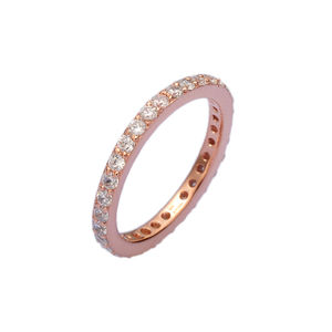 Rose Gold Single Stacking Ring - rings