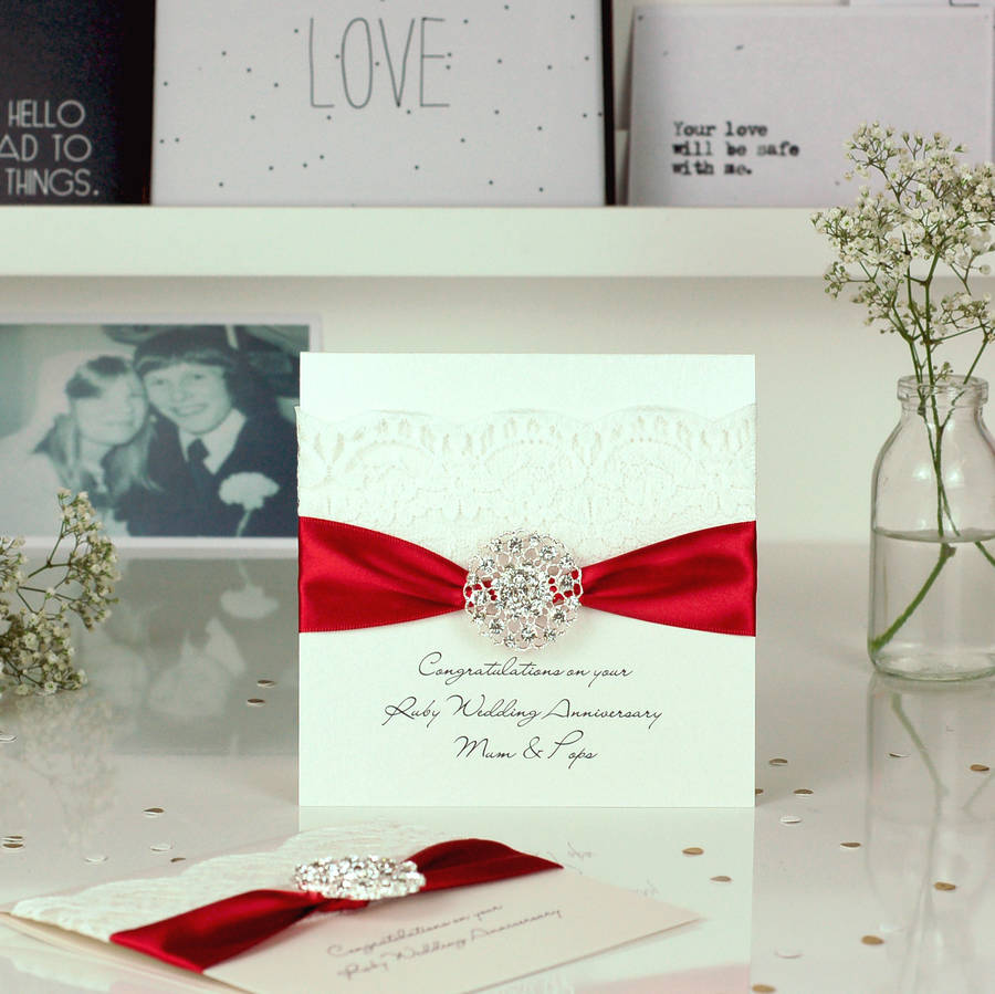 Personalised Ruby Wedding Invitations Uk | Invitationjpg.com