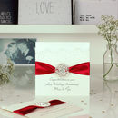 Opulence Ruby Wedding Anniversary Card