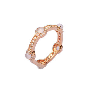 Rose Gold Quartz Stacking Ring
