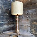 Upcycled 1940 Elgon Brass Fire Nozzle Lamp
