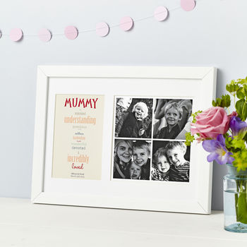 Personalised Typographic Mummy Or Daddy Photo Print