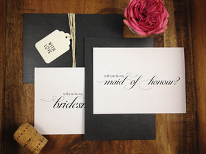 'Will You Be My Bridesmaid' Card - wedding, engagement & anniversary cards