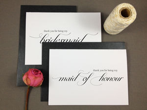 'Thank You For Being My Bridesmaid' Card - wedding cards & wrap