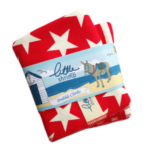 New Baby Gift Pack Of Red Star Dribble Cloth's - baby & child sale