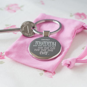 'Bestest Mummy Ever Ever' Keyring - women's sale