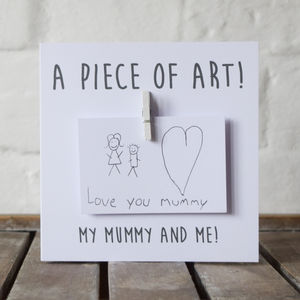 Personalised Draw A Picture Message Card