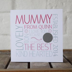 Personalised Mummy Scratch Message Card - view all sale items