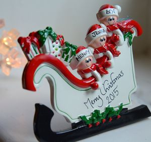 Personalised 'Freestanding' Sleigh Christmas Decoration