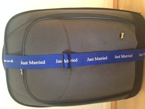 Just Married Luggage Strap