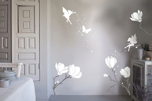 Flower Fairy Wall Sticker - wall stickers