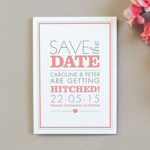 Amelia Save The Date Invitation - wedding stationery