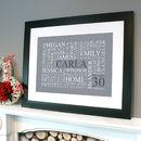 black framed print in grey