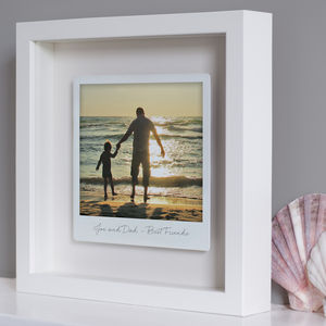 Personalised Framed Floating Metal Polaroid Photo - gifts for her