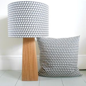 Steps In Charcoal, Handmade Drum Lampshade