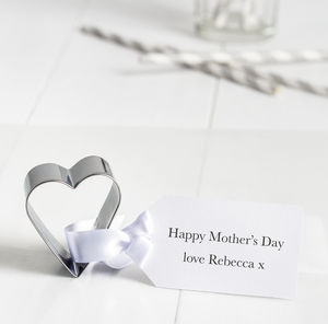 Personalised Mother's Day Heart Cookie Cutter