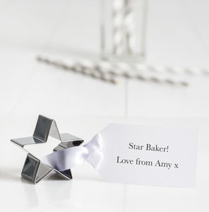 Personalised Mother's Day Star Cookie Cutter - cookie cutters