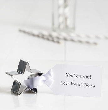 Personalised Star Cookie Cutter With Tag