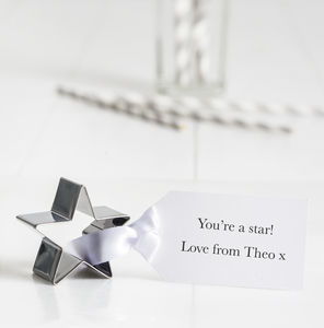 Personalised Star Cookie Cutter With Tag - kitchen