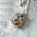 Dragonfly Or Bee Watch Movement Necklace