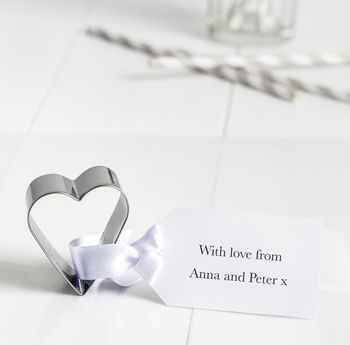 Personalised Heart Cookie Cutter With Tag