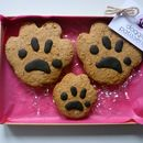 Three Paw Print Dog Cookies