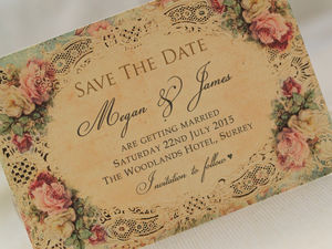 'Save The Date' Cards Printable Digital File