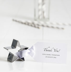 Personalised Star Cookie Cutter Wedding Favours