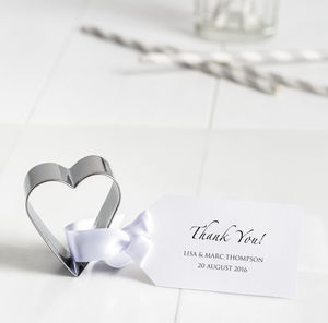 Heart Cookie Cutter Wedding Favours