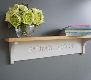 Personalised Shelf With Oak Top