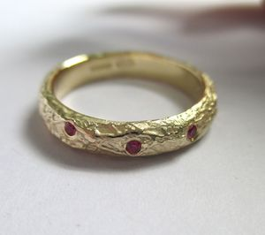 Scatter Ruby Organic Ring
