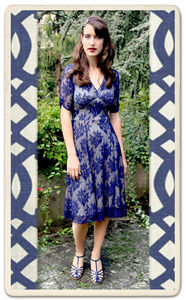Christy Dress In French Navy Lace - new in wedding styling