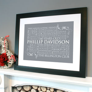 Personalised Word Art For One Print - view all father's day gifts