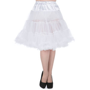 1950s Vintage Style White Dual Layer Petticoat