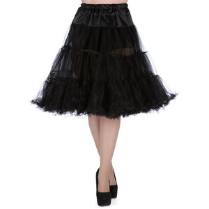 1950s Vintage Style Black Dual Layer Petticoat