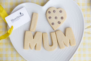 Mothers Day I Love Mum Shortbread Biscuits