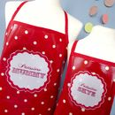 Red Spotty Patissiere apron