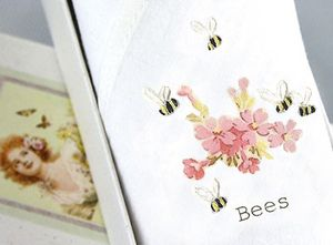 Lady's Handkerchief Bees And Pink Flowers