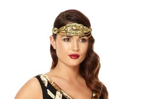 Glitz Black Gold Hand Embellished Headband - statement sparkle