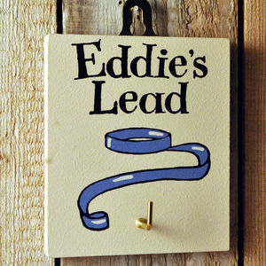 Personalised Dog's Lead Hook - storage & organisers