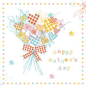 Happy Mothers Day Bunch Of Flowers Card