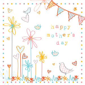 Happy Mother's Day Birds In Garden Card