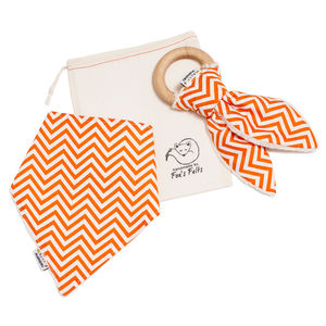 Unisex Dribble Bib And Teether Set