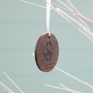 Baby's First Christmas Handprint Bauble