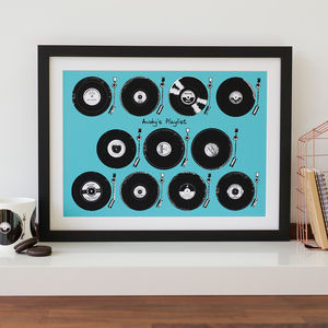 Personalised Play List Vinyl Print - music
