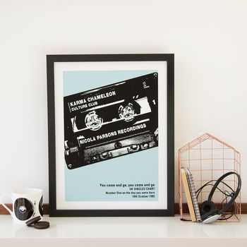 mix tape cassette gift poster