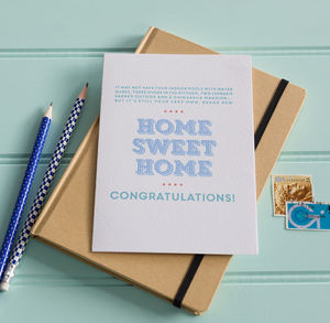 'Home Sweet Home' Congratulations Card