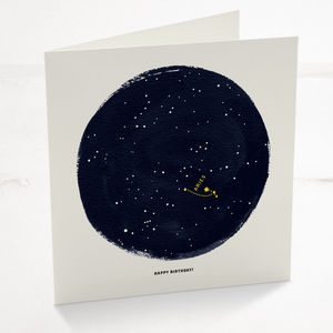 Aries Horoscope Astrology Birthday Card