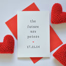 Personalised Future Mrs Card